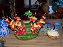 decor buy hawaiian decorations to add hawaii atmosphere in your full size of decor hawaiian decorations with watermelon as the main menu made such a container