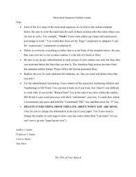 basic informative speech outline format