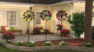 wind spinners with led lights plow hearth wind spinner with solar led lights with carolyn gracie