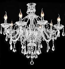 Crystal Chandelier For Dining Room by Candle Crystal Chandelier Lighting 93353 Montreal Crystal