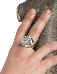 large mens rings images Greek silver men 39 s ring large mens owl of wisdom chevalier coin jpg