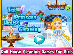 ice princess dollhouse cleanup android apps on google play