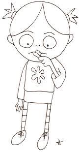 coloriage de Nana qui se lave les dents  Tête à modeler