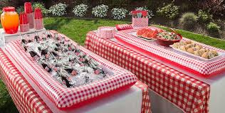 Theme Party Decorations - gingham picnic party theme baby shower cookout ideas pinterest