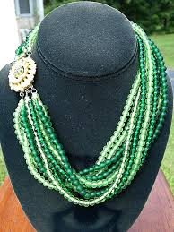 beading necklace clasp images Melange multi strand bead necklace with jewel clasp jpg