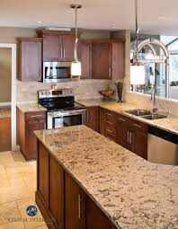kitchen backsplash travertine tile outdated pink maple kitchen renovation with new maple cabinets