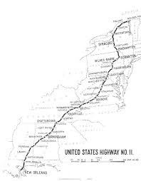 louisiana highway map u s 11 rouses point york to orleans louisiana map