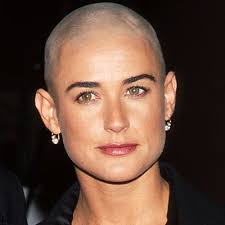 demi moore haircut in ghost the movie demi moore bald pinterest