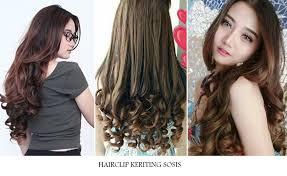hair clip rambut hairclip rambut sambung keriting sosis niaunik