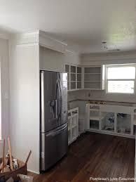 S Kitchen Makeover - remodelaholic small white kitchen makeover with built in fridge
