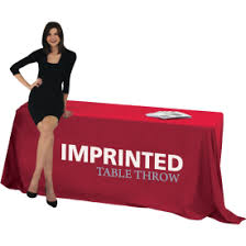 6ft Imprinted Table Cover Custom Trade Show Tablecloths U0026 Table Covers Exhibitors U0027 Handbook