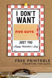 valentines gifts for guys gifts for him a free printable gift card holder