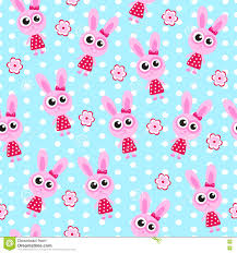 Wallpaper Children Seamless Wallpaper Pattern Bunny Rabbit Soft Toy Vector