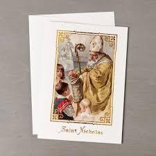 catholic christmas cards vintage st nicholas christmas cards set of 20 the catholic company
