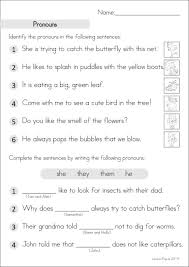 grade 2 homework an introduction pronoun worksheets personal