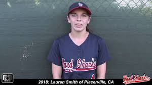 2018 lauren smith second base and outfield softball skills video