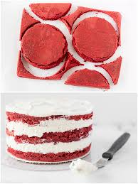 ombre red velvet cake with cream cheese frosting bake love give