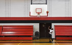 mother tries to protect her 9 year old basketball playing son from