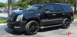 cadillac escalade black rims 22 gloss black platinum style ca83 wheels with tires fits