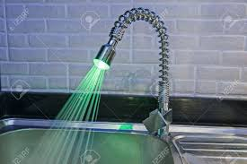 Kitchen Tap Faucet Ornate Illuminated Luxury Tap Faucet With Green Light And Water