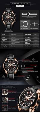 MEGIR 2065 Olahraga Watches Creative Chronograph Kuarsa Kulit Strap
