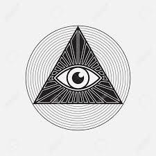 all seeing eye symbol vector illustration ロイヤリティフリー