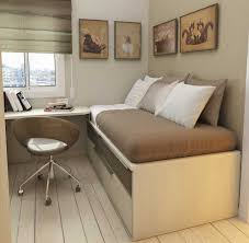furniture minimalist modern small room decoration with white loft