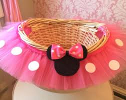 minnie mouse easter basket ideas tutu basket tutu gift basket tutu baby shower basket