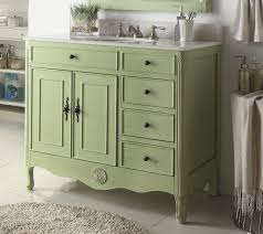 46 Inch Wide Bathroom Vanity by 38 Inch Bathroom Vanity With 4 Drawers On The Right Cottage Style