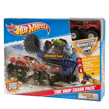 monster jam monster trucks wheels monster jam tire shop crash pack captains curseplayset