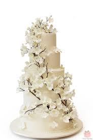 wedding cake dogwood flower wedding cake wedding cakes