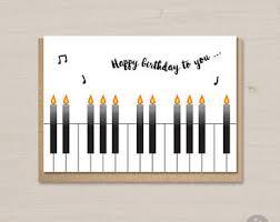 piano card etsy