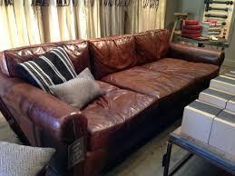 Leather Sofa Restoration Lancaster Leather Sofa Restoration Hardware 96 Sleeper