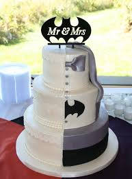 Wedding Cakes Half Batman Wedding Cake Topup Wedding Ideas