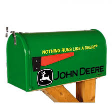 John Deere Home Decor by John Deere Nothing Runs Like A Deere Mailbox Rungreen Com