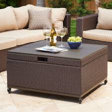 Patio Storage Ottoman Inspiration For Patio Coffee Table With Storage Newport Patio