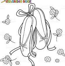 ballet shoes coloring book page stock vector art 531986131 istock