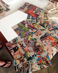 Diy Superhero Room Decor Comic Book Craft Diy Superhero Canvas Mod Podge Rocks