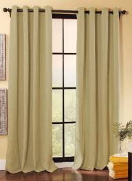 Green Color Curtains Decorations Grommet Curtains With Heavy Weighted Window Panel
