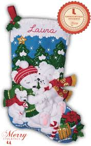 polar bears bucilla kit large felt