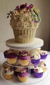 giant wedding cakes giant wedding cupcake with sugar freesias