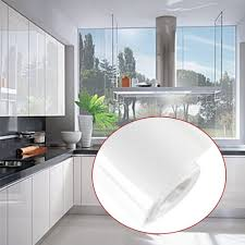 white gloss kitchen cupboard wrap kitchen cupboard doors units wall draws cover self adhesive gloss matt 61cm 10m white