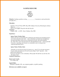 Sample Resume Format For Job Pdf by 5 First Job Resume Template Park Attendant