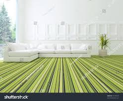 interior design modern white green living stock illustration