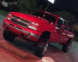Red Lifted Chevy Silverado Truck - 2006 chevrolet silverado 1500 moto metal mo962 rough country