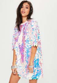 sequin dresses pink sequin t shirt dress missguided
