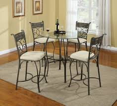 circular dining room kitchen glass dining table with silver base dining room chairs