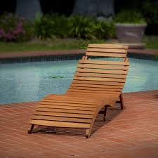 Chaise Lounge Chair Patio Lahaina Wood Outdoor Chaise Lounge Walmart Com