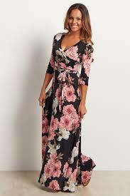 floral maxi dress black floral sash tie maternity nursing maxi dress