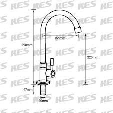Replacement Kitchen Faucet K8001a1lf Lead Free Single Handle Cold Water Brass Replacement